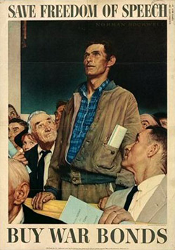 Norman Rockwell's Freedom of Speech painting